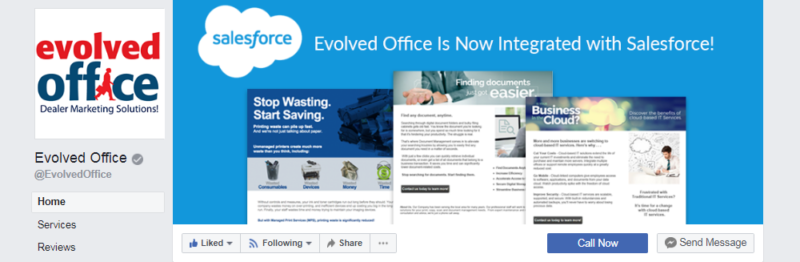 The header of Evolved Office's Facebook page