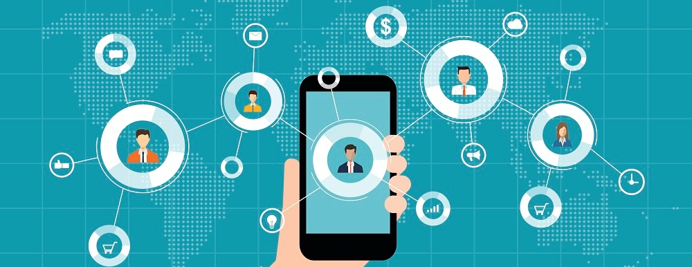 mobile marketing on a smartphone